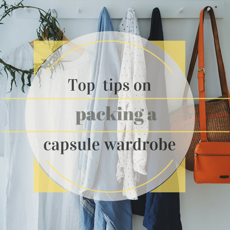 Littlegreenshed blog - top tips for packing a capsule wardrobe