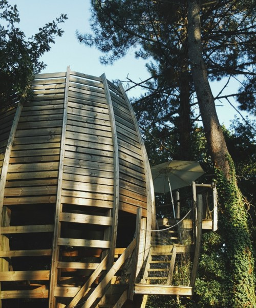 glamping treehouse france