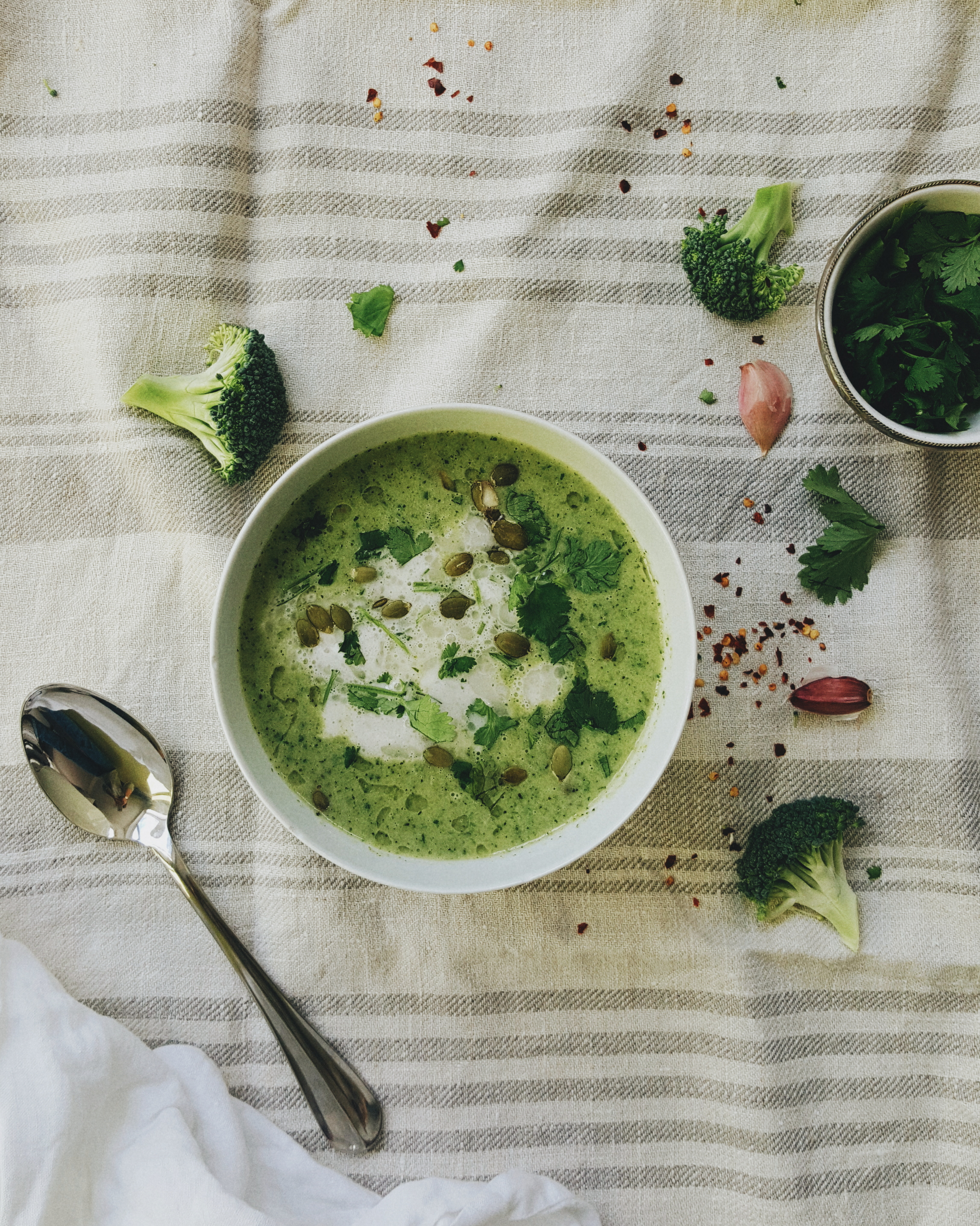 Littlegreenshed Blog - coconut and broccoli soup