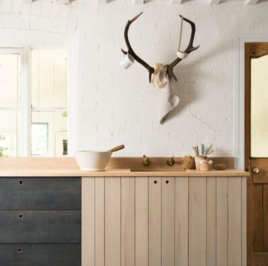 devol kitchens rustic wood antlers