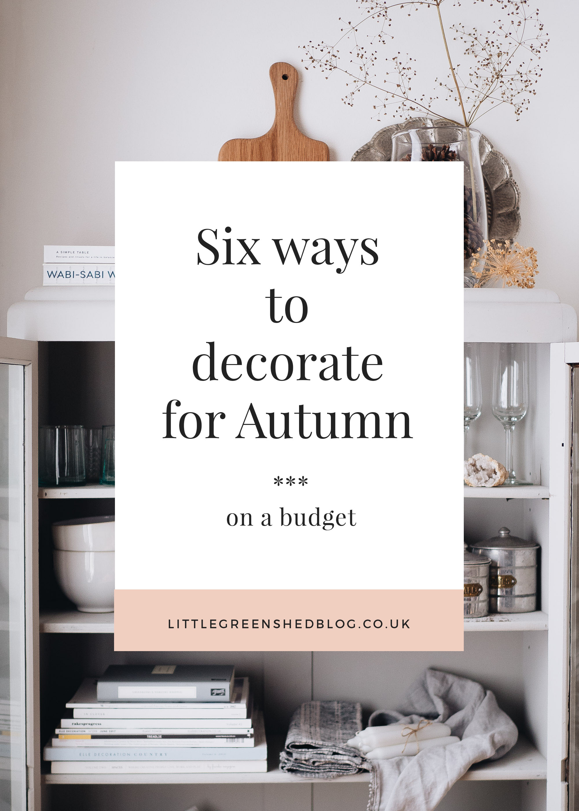 decorate on a budget for autumn