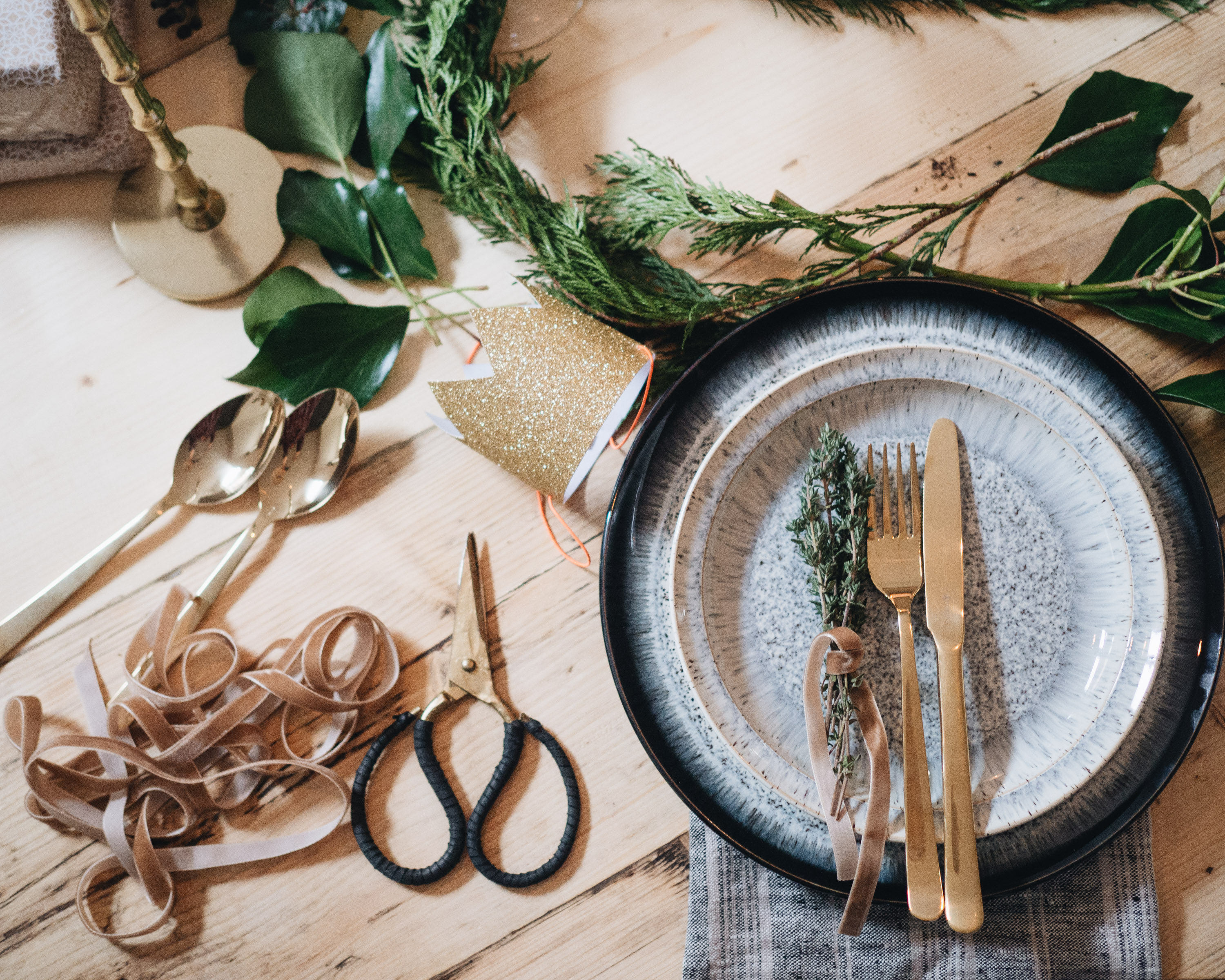 Christmas eve supper with Denby Littlegreenshed