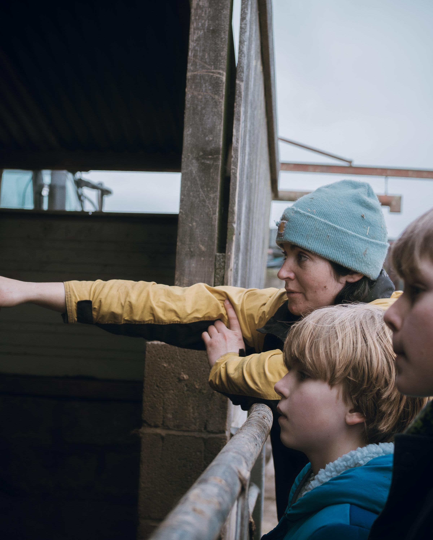 Lou Archell farm visit wales