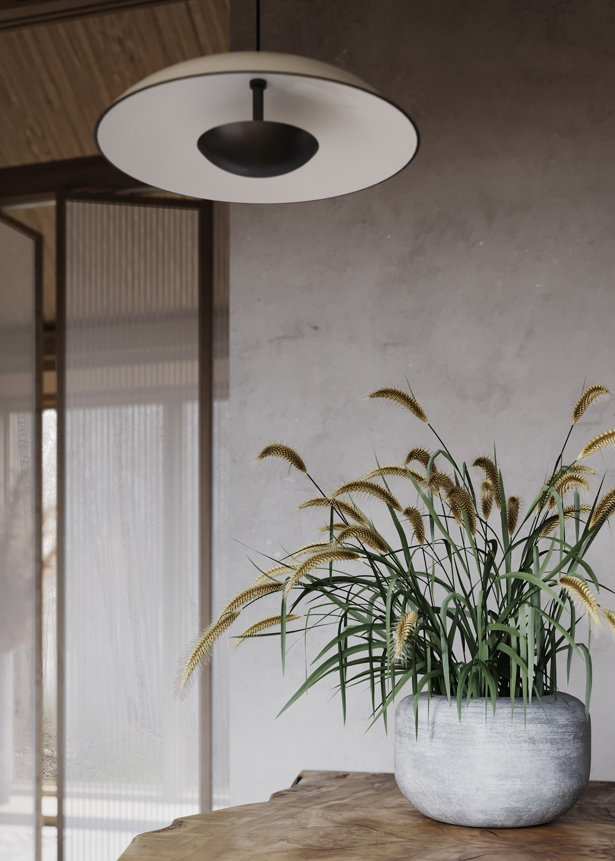 nature in the home - grasses in a vase