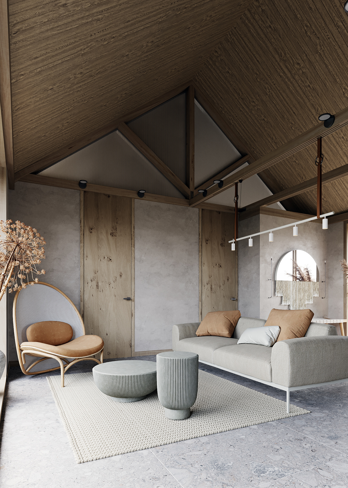 vaulted ceiling of the beautiful home - nature in the home