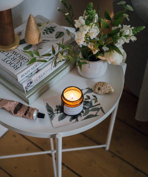 orange and bergamot scented candle